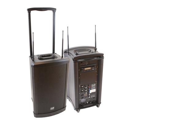 Mobiler Lautsprecher mit Akku und Funkmikrofon