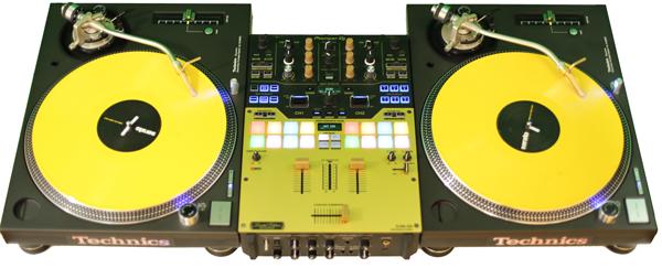 DJ CrossCut Plattenspieler und Mixer