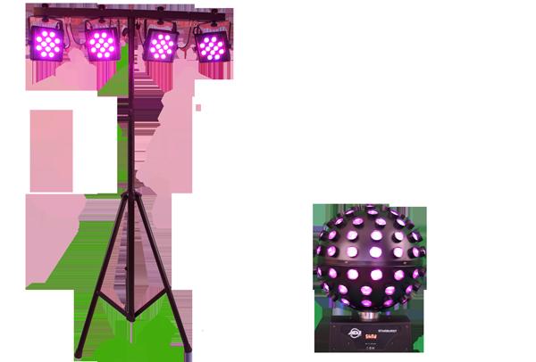 LED-Lichtset von DJ CrossCut für Hochzeiten, Geburtstagsfeiern und Firmenfeiern