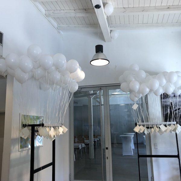 Hochzeit Luftballons steigen lassen