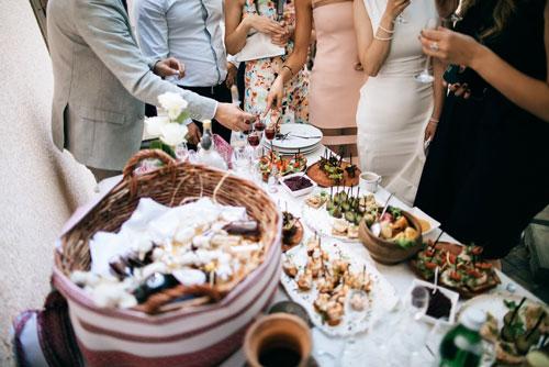 Mitternachtssnack Hochzeit