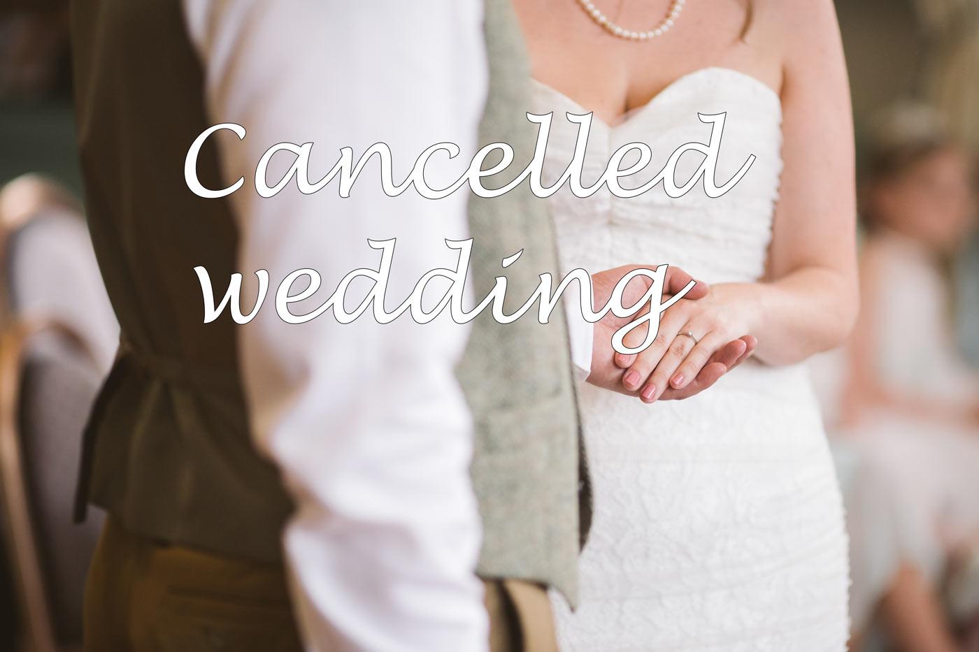 Abgesagte Hochzeit